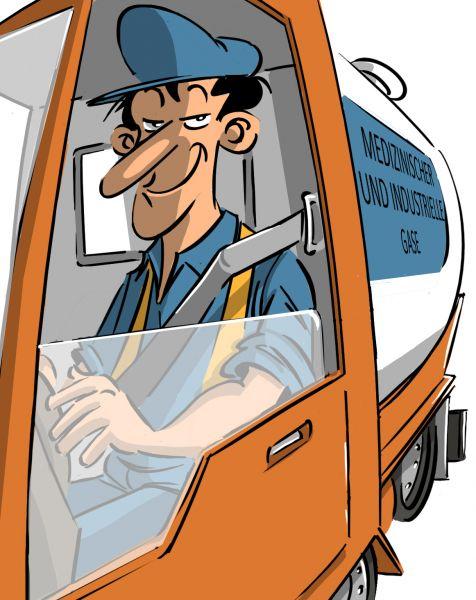 Stellenbeschreibung Auslieferungsfahrer medizinische und industrielle Gase